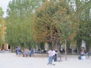 MAXXI's pleasant outdoor area