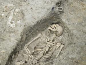 Human burial, still in situ