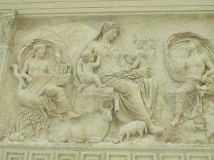 The goddess Pax (Peace)