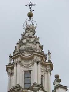 The amazing, twisting spire of Sant'Ivo