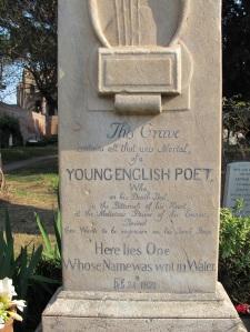 Gravestone of John Keats