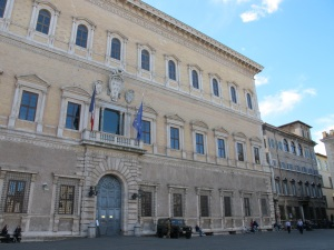 Palazzo Farnese, near Piazza Campo de' Fiori