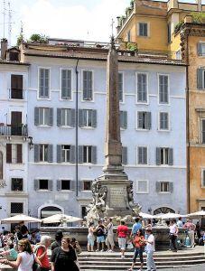 The Pantheon's obelisk