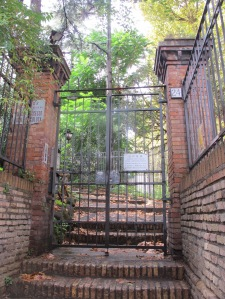 Monte Testaccio sits behind locked gates ...