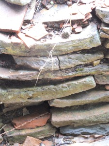 Stacked amphorae bits ...