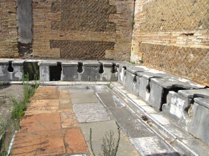 Communal toilets in Ostia Antica