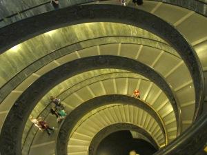 The Momo staircase at night