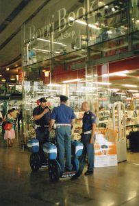 Police on Segways at Termini station
