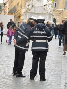 Local lady cops at Piazza di Spagna