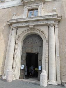 Villa Medici's massive front door