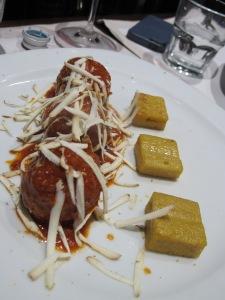 Meatballs and polenta ...