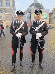 Carabinieri, in their stylish uniforms!
