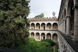 The interior courtyard of Palazzo Venezia.